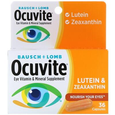 Bausch & Lomb Ocuvite, Lutein & Zeaxanthin, 36 Capsules