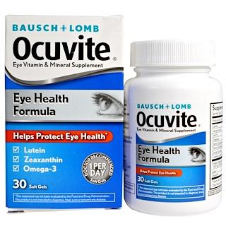 Bausch & Lomb, Fórmula de sanamiento ocular, 30 Cápsulas blandas