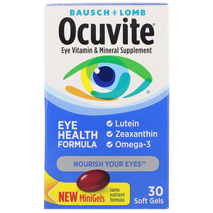 Бауш энд Лом Окьюуайт, Ocuvite, Eye Health Formula, 30 Soft Gels отзывы