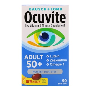Bausch & Lomb, Eye Vitamin & Mineral Supplement, Adult 50+, 90 Soft Gels