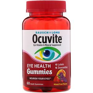 Бауш энд Лом Окьюуайт, Ocuvite, Eye Health Gummies, Mixed Fruit Flavors, 60 Adult Gummies отзывы