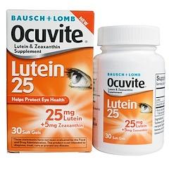 Bausch & Lomb Ocuvite, 루테인 25, 소프트젤 30정