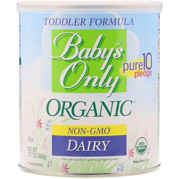 品牌從A - ZNature's One類別嬰幼兒嬰幼兒餵養配方奶粉:Nature's One, Baby's Only Organic, Toddler Formula, Dairy, 12、7 oz (360 g)