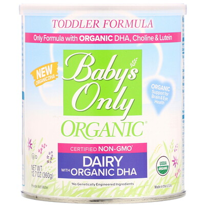 Babys Only Organic, Toddler Formula, Dairy with Organic DHA, 12.7 oz (360 g)