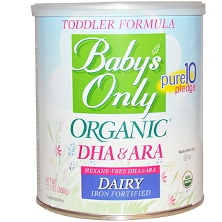 Nature's One, Toddler Formula, DHA & ARA, Dairy, Iron Fortified, 12.7 oz (360 g)