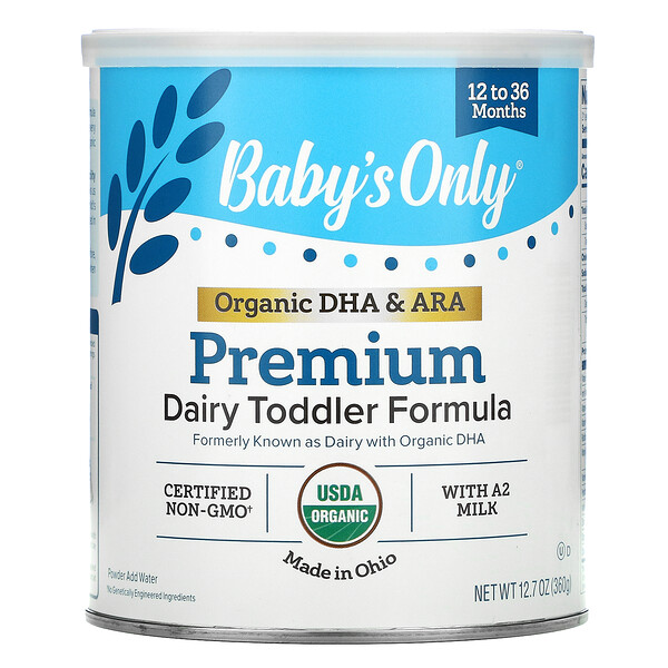 Nature's One, Baby's Only, Premium Dairy Toddler Formula, 12 to 36 Months, 12.7 oz (360 g)