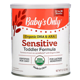 Nature's One, Baby's Only, Organic DHA & ARA Sensitive Toddler Formula, 12 to 36 Months, 12.7 oz (360 g)