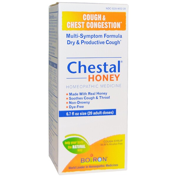 Boiron, Chestal Honey, Tosse e Congestão do Peito, 6.7 fl oz
