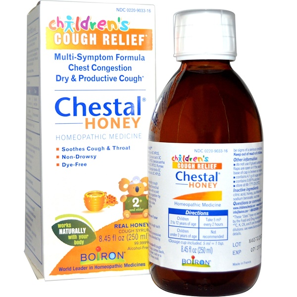 Boiron, Chestal Honey, Children's Cough Relief, 8.45 fl oz (250 ml) (Discontinued Item)