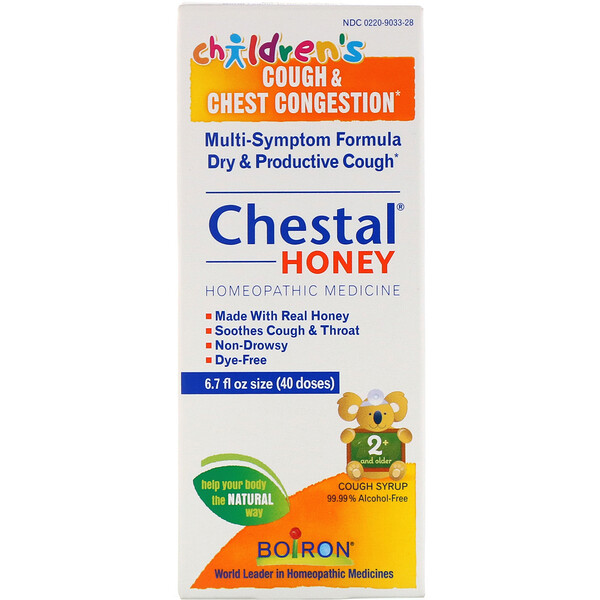 Boiron, Chestal Honey, Children's Cough & Chest Congestion, 6.7 fl oz (200 ml)