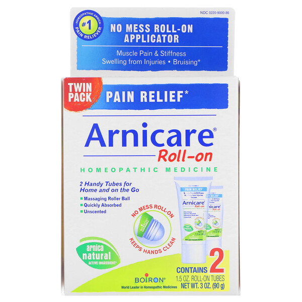 Arnicare Roll-on, Pain Relief, 2 Tubes, 1.5 oz Each