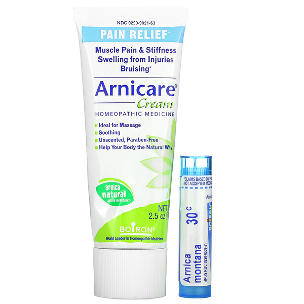 Arnicare Cream, Pain Relief, Value Pack, 2.5 oz (70 g) and Approx. 80 Pellets