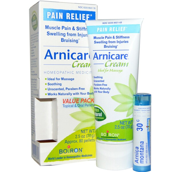 Arnicare Cream, Pain Relief, 2.5 oz (70 g), Appr. 80 Pellets