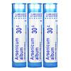 Boiron, Arsenicum, Diarrhea & Vomiting Relief, Meltaway Pellets, 30C, 3 Tubes, 80 Pellets Each