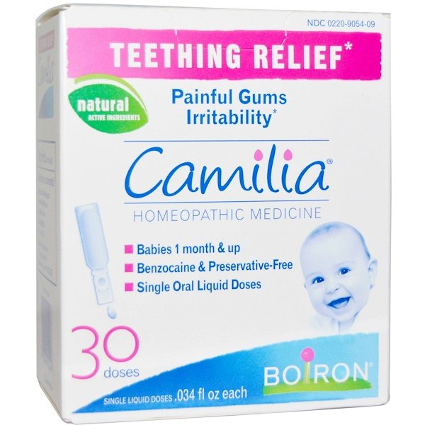 Boiron, Camilia, Teething Relief, 30 Liquid Doses, .034 fl oz Each