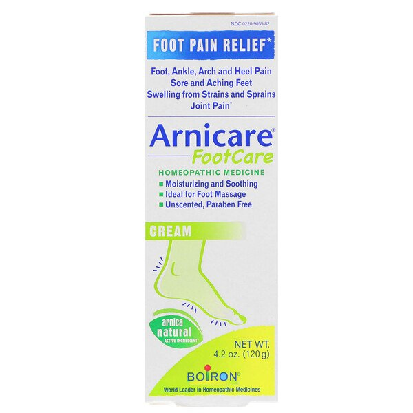 Arnicare Foot Care Cream, Pain Relief, Unscented, 4.2 oz (120 g)