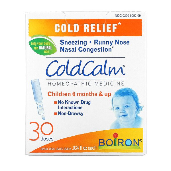 ColdCalm, Cold Relief, 6 Months & Up, 30 Single Oral Liquid Doses, .034 fl oz Each
