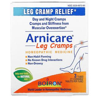 Boiron, Arnicare Leg Cramps, Leg Cramp Relief, 3 Tubes, 11 Chewable Tablets Per Tube