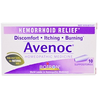 Boiron, Avenoc, Hemorrhoid Relief, 10 Suppositories