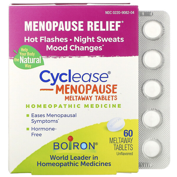 Cyclease Menopause, Unflavored, 60 Meltaway Tablets