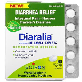 Boiron, Diaralia, Diarrhea Relief, Unflavored, 60 Meltaway Tablets