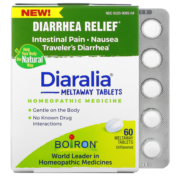Diaralia, Diarrhea Relief, Unflavored, 60 Meltaway Tablets