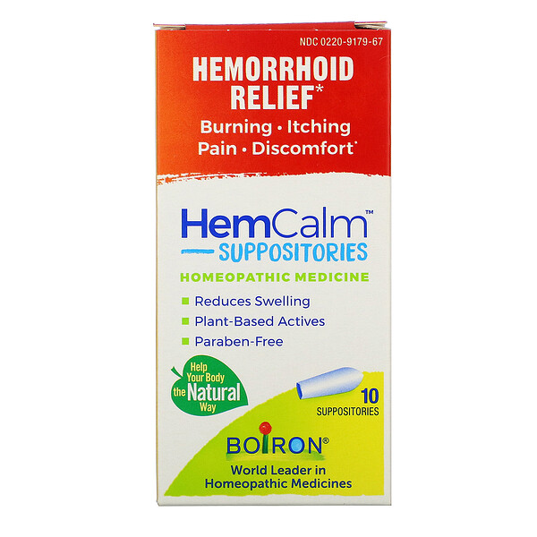 HemCalm Suppositories, Hemorrhoid Relief, 10 Suppositories