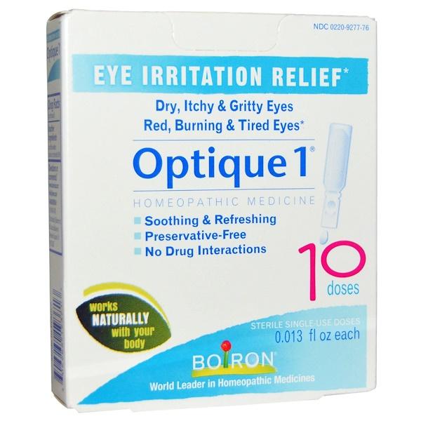 Boiron, オプティック(Optique)1, 眼の炎症の軽減に, 10回分, 各0.013液量オンス