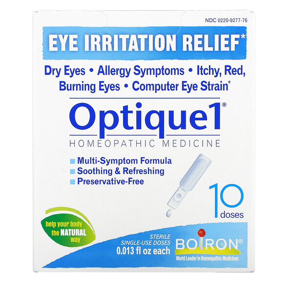 Optique1, Eye Irritation Relief, 10 Doses, 0.013 fl oz Each