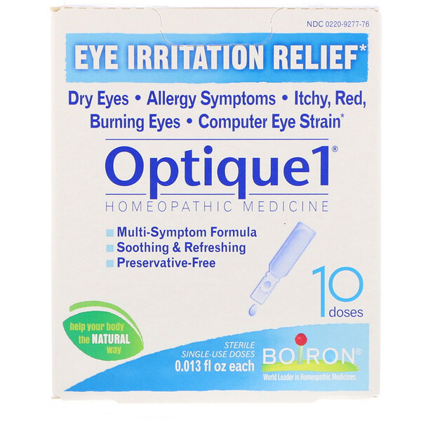 Optique 1, Eye Irritation Relief, 10 Doses, 0.013 fl oz Each