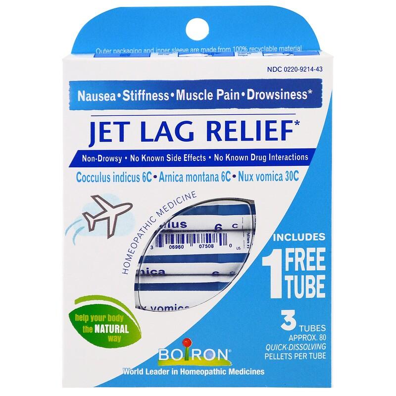 Jet Lag Relief, 3 Tubes, 80 Quick-Dissolving Pellets Each