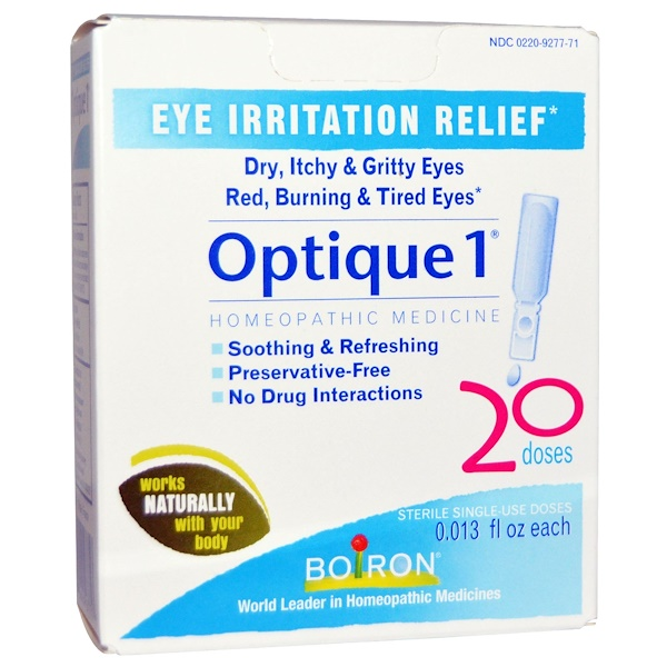 Boiron, Optique 1, Eye Irritation Relief, 20 Doses, 0.013 fl oz Each (Discontinued Item)