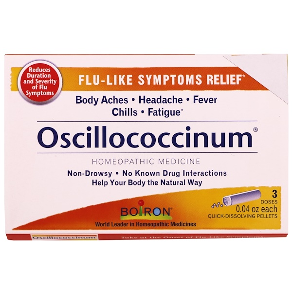 Boiron, Oscillococcinum, 3 Tubes, 0.04 oz Each (Discontinued Item)