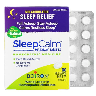 Купить Boiron Sleep Calm Meltaway Tablets, Unflavored, 60 Meltaway Tablets