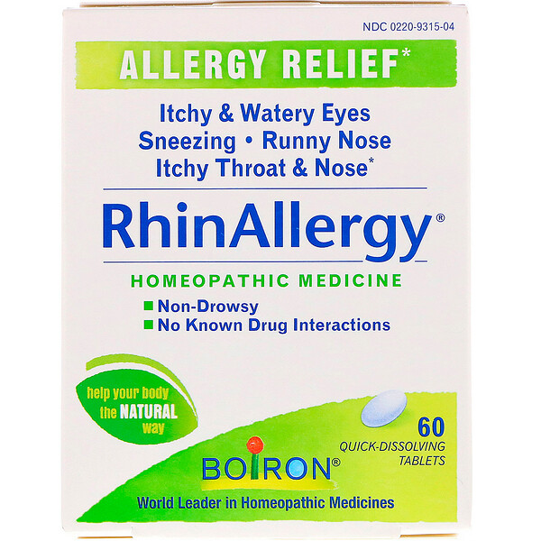 Boiron, RhinAllergy, 60 Quick-Dissolving Tablets