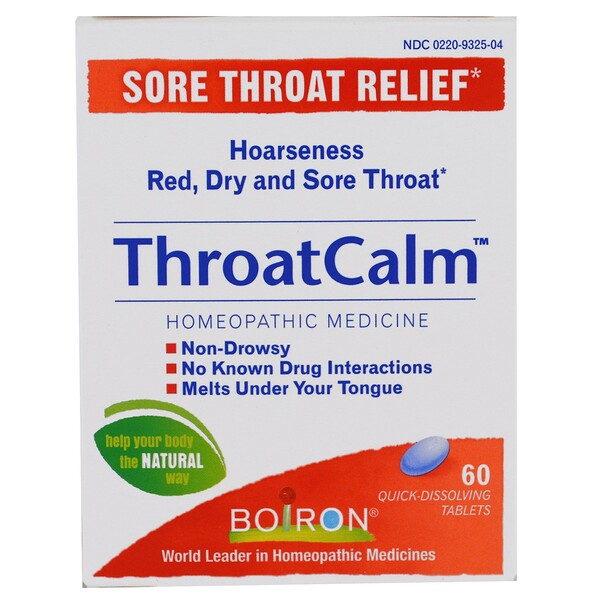 Boiron, ThroatCalm、高速溶解60錠