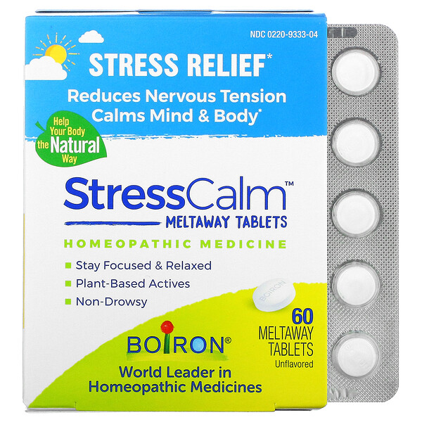 Stress Calm Meltaway Tablets, Stress Relief, Unflavored, 60 Meltaway Tablets