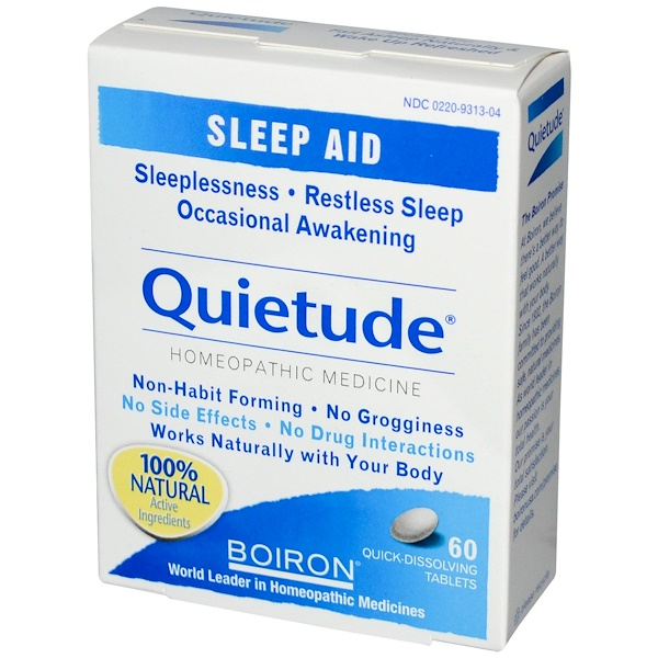 Boiron, Quietude, Sleep Aid, 60 Tablets (Discontinued Item)