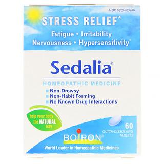 Boiron, Sedalia®, ストレス・リリーフ, すばやく溶ける錠剤 60 錠