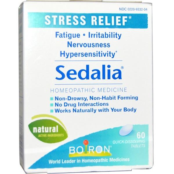 Boiron, 세달리아, 스트레스 완화제, 빠르게 녹는 알약 60정