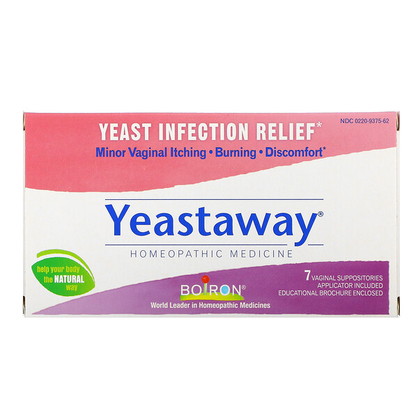 Yeastaway, Yeast Infection Relief, 7 Vaginal Suppositories
