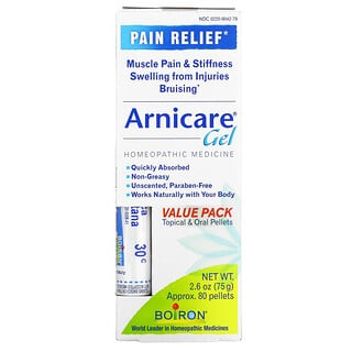 Boiron, Topical & Oral Pellets Value Pack, Arnica Gel Pain Relief, Approx. 80 Pellets, 2.6 oz (75 g)
