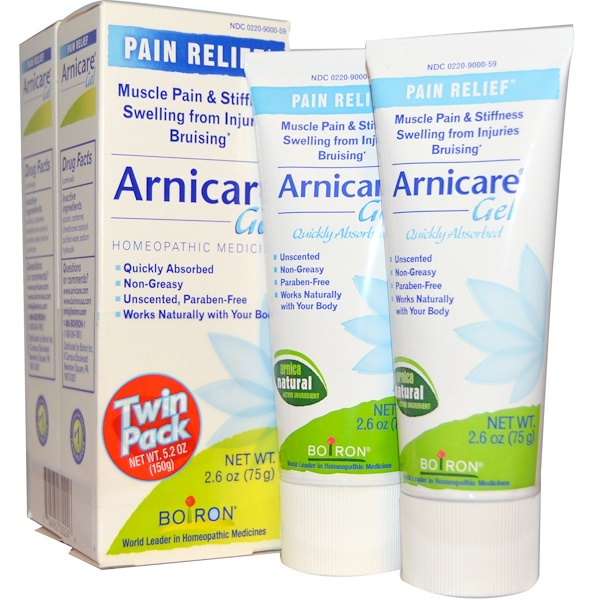 Boiron, Arnicare Gel, Pain Relief, Twin Pack, 2.6 oz (75 g) Each (Discontinued Item)
