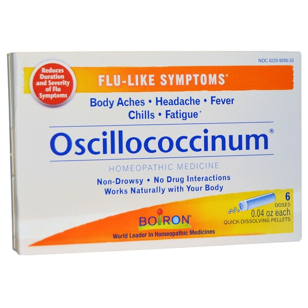 Boiron, Oscillococcinum, Flu-Like Symptoms, 6 Doses, 0.04 oz Each