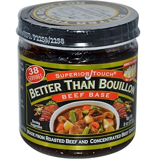 Better Than Bouillon, Superior Touch, base de res, 8 oz (227 g)