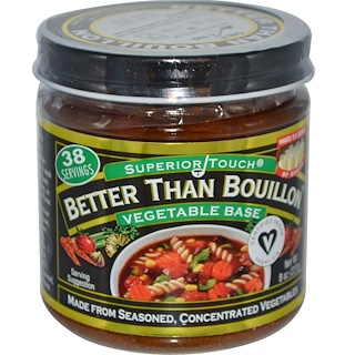Better Than Bouillon, Superior Touch, base de verduras, 8 oz (227 g)