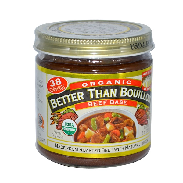 Better Than Bouillon, Натуральная основа для бульона из говядины, 8 унций (227 г)