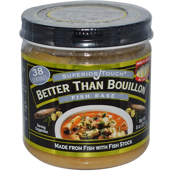 Better Than Bouillon, Superior Touch, рыбный бульон, 8 унций (227 г)  (Discontinued Item)