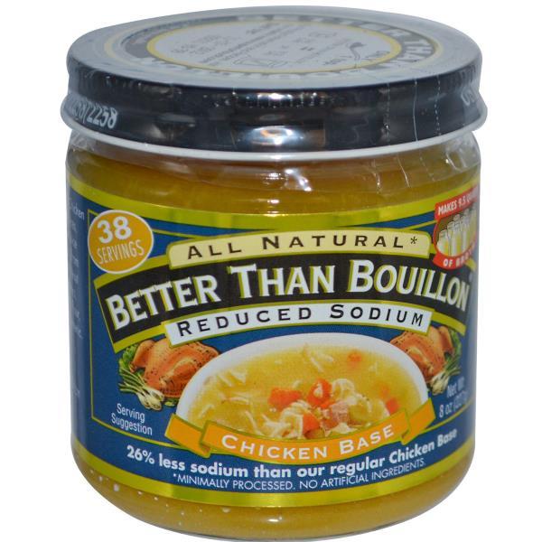Better Than Bouillon, Chicken Base, Reduced Sodium, 8 oz (227 g)