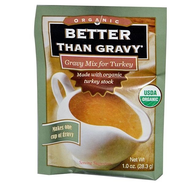 Better Than Bouillon, Organic Gravy Mix for Turkey, 1.0 oz (28.3 g) (Discontinued Item)